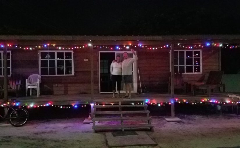 Christmas lights on the Cabana